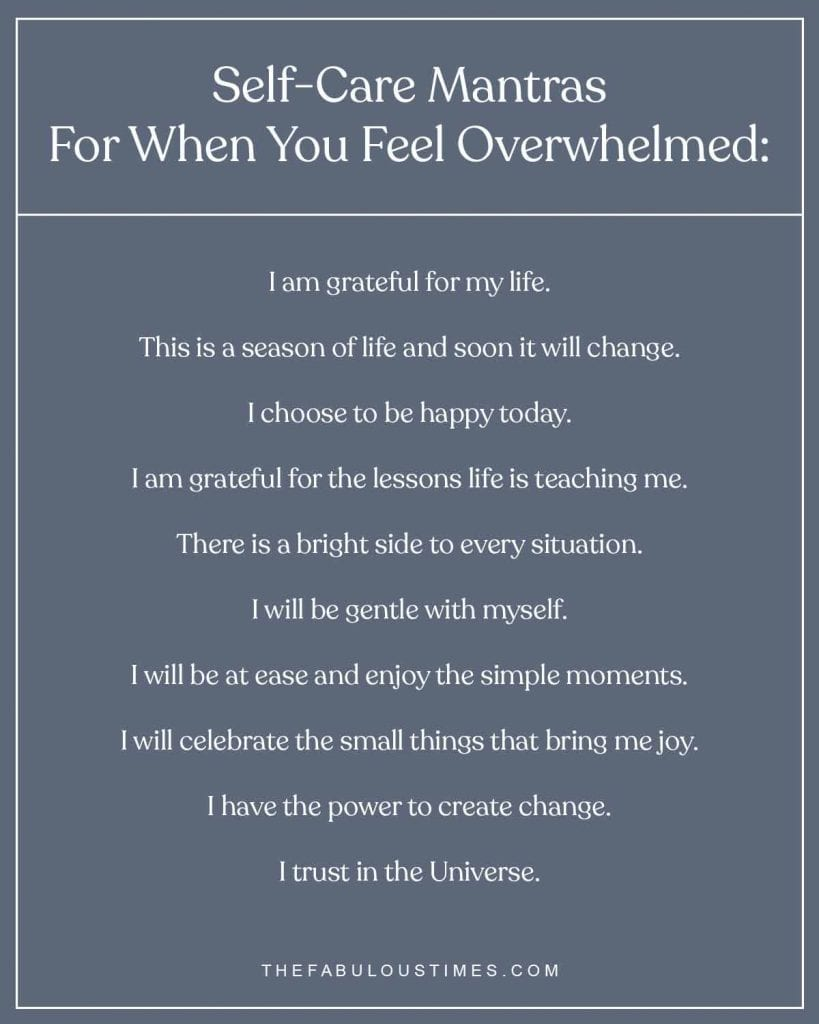 self care mantras for overwhelm