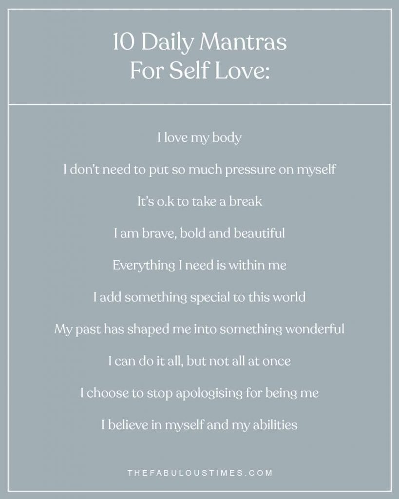 10 daily mantras for self love