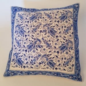 Ethical Hand Block Printed Cushion