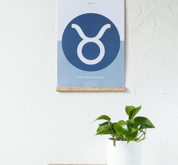 Minimalist Taurus Star Sign Print