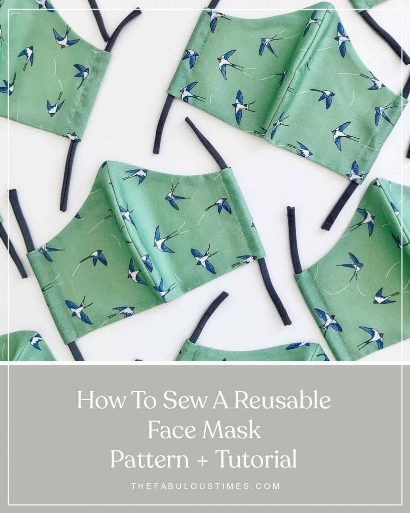 how to make a reusable face mask with palava