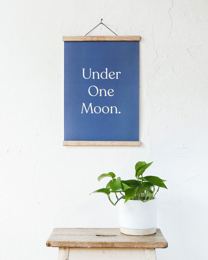 under one moon- digital quote print