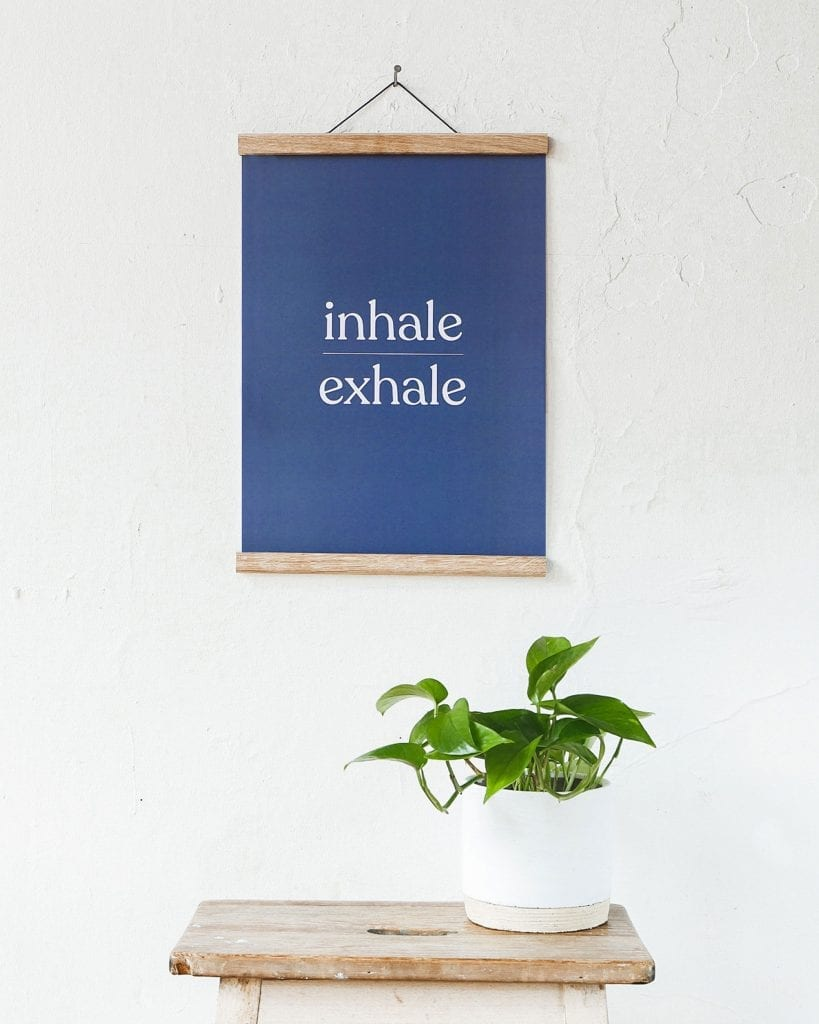 inhale exhale artwork print