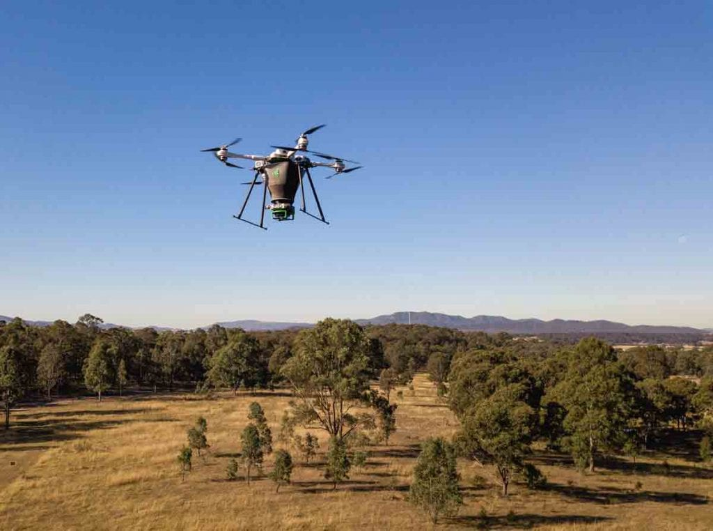 Biocarbon Engineering tree planting drone